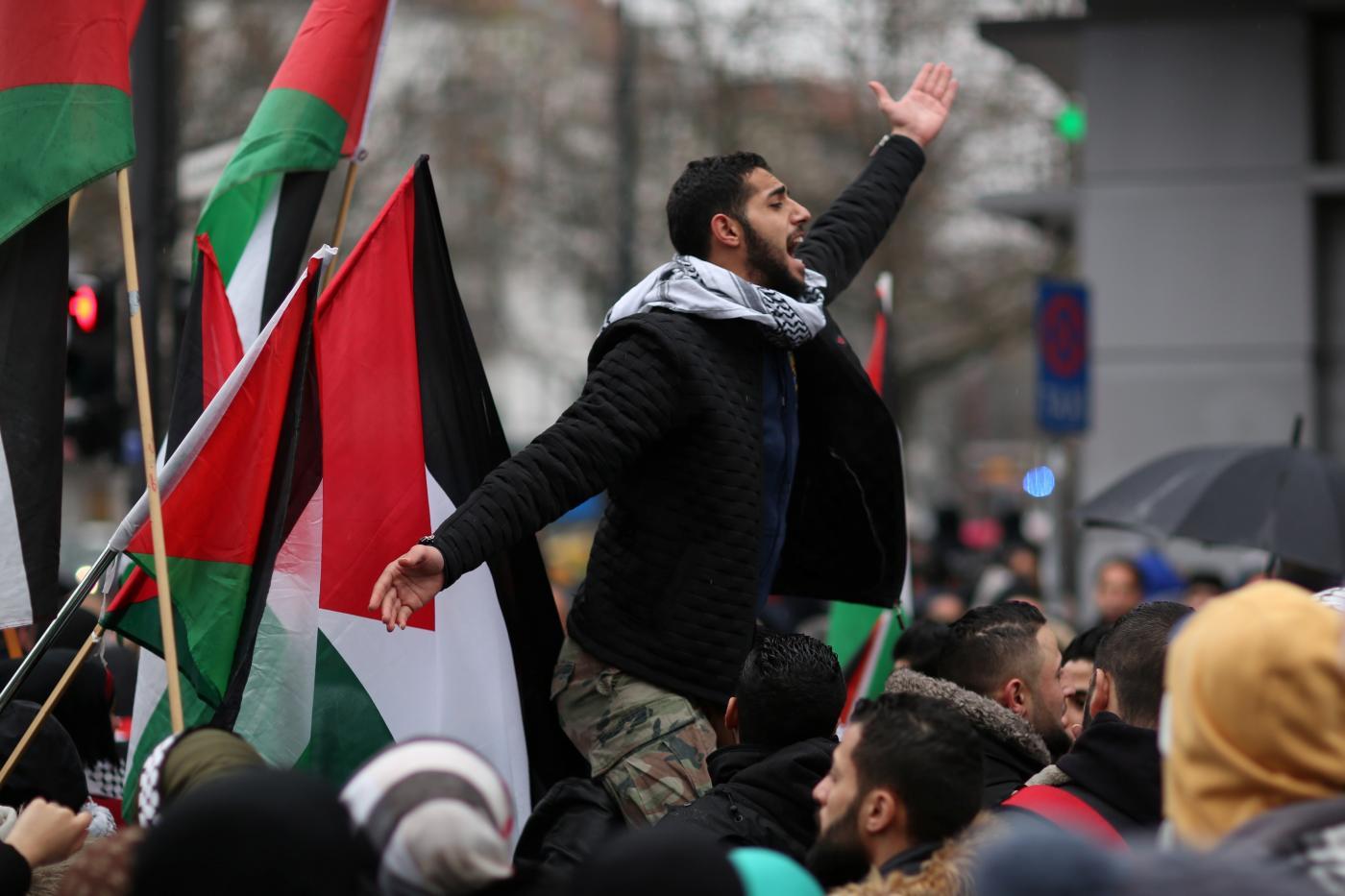 احتجاجات فلسطينية في ألمانيا
