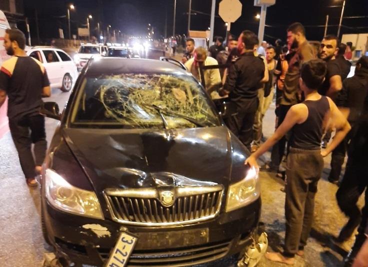 حادث سير غزة
