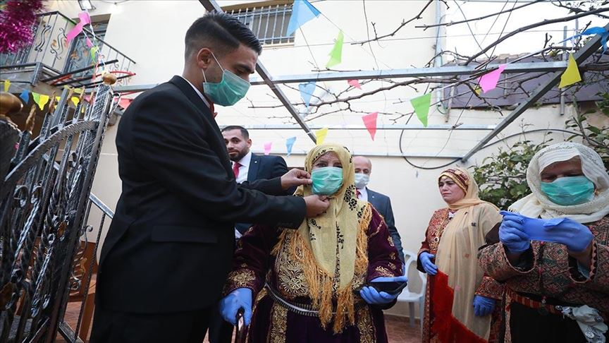 حفل زفاف في زمن كورونا