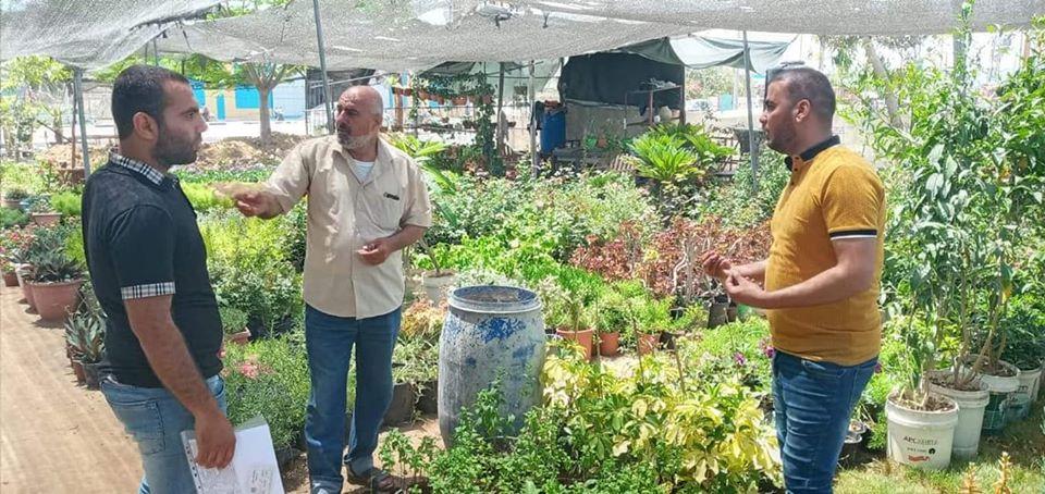 مشاتل ومحلات زراعية في غزة