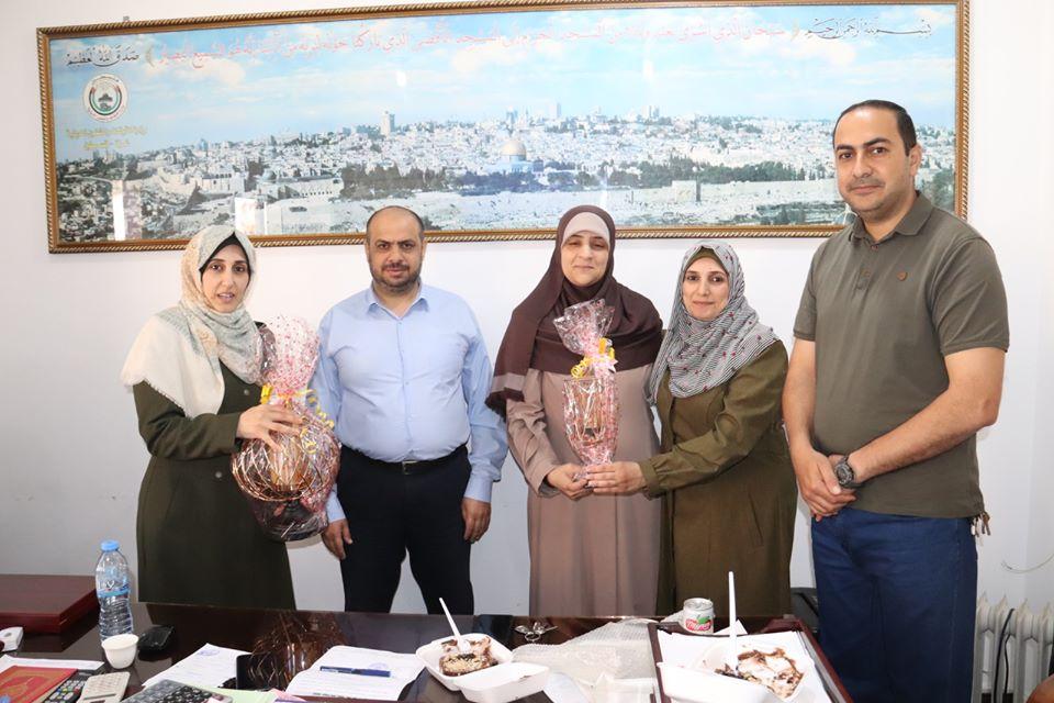وزارة التنمية في غزةتُكرم الموظفة رانيا الحج أحمد