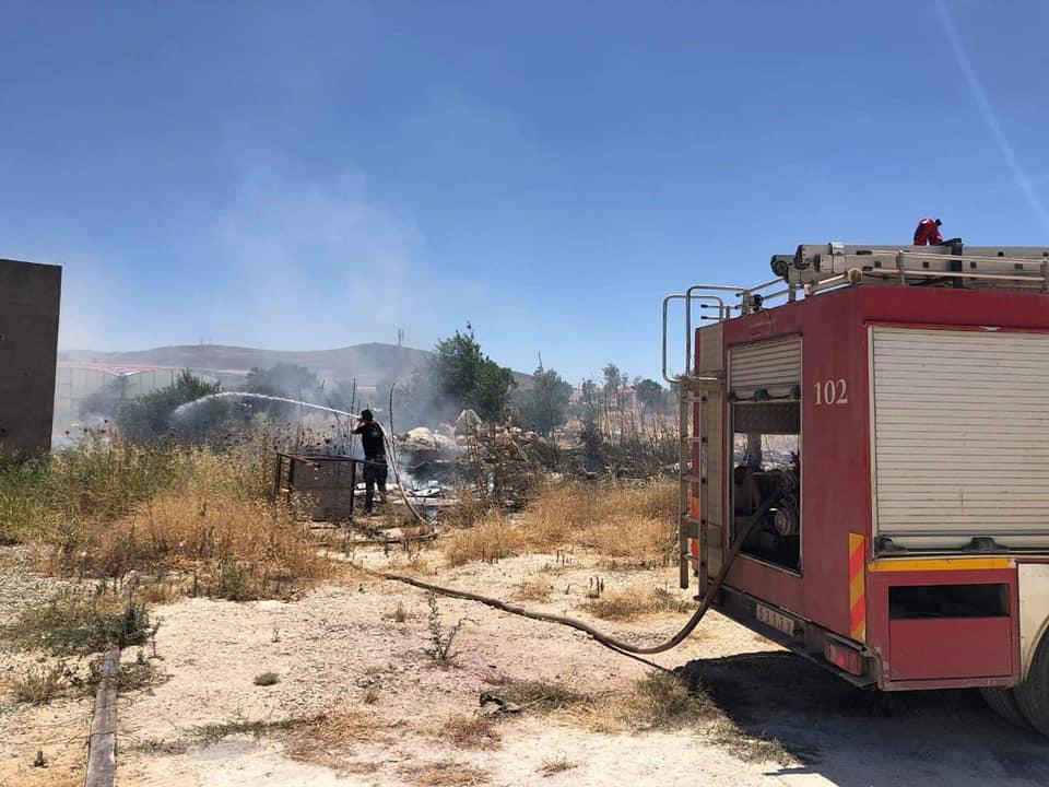 حريق في الضفة الغربية
