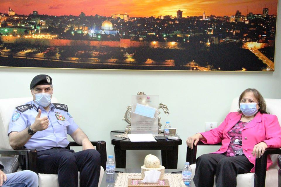 لقاء وزيرة الصحة ومدير عام جهاز الشرطة
